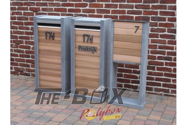 Brievenbus WoodBox b0302 productfoto)